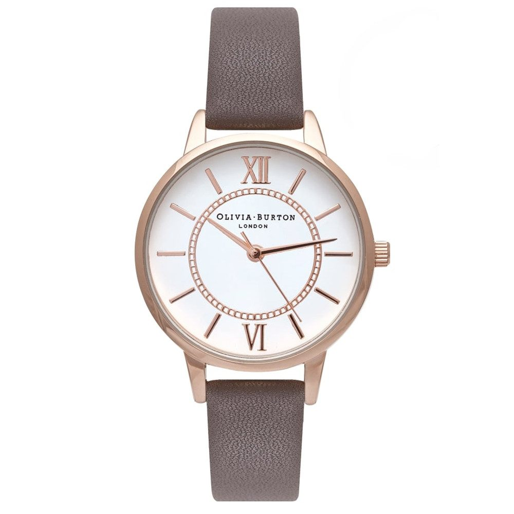 Wonderland Watch - London Grey & Rose Gold