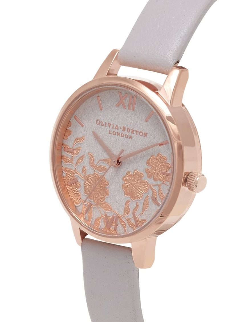 Lace Detail Watch - Blush & Rose Gold main image
