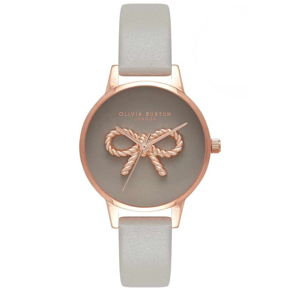 3D Vintage Bow Watch - Grey & Rose Gold