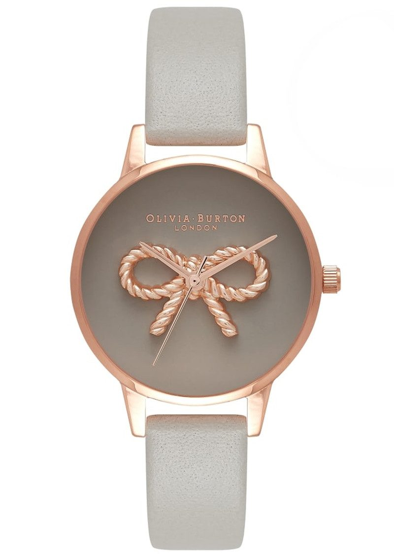 Olivia Burton 3D Vintage Bow Watch - Grey & Rose Gold main image