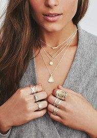 ANNA BECK Cross Ring - Silver