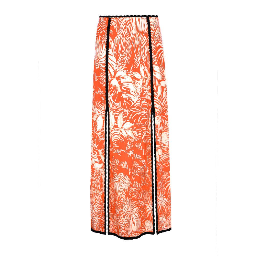 PRE ORDER Thalia Skirt - Red Oriental Jungle