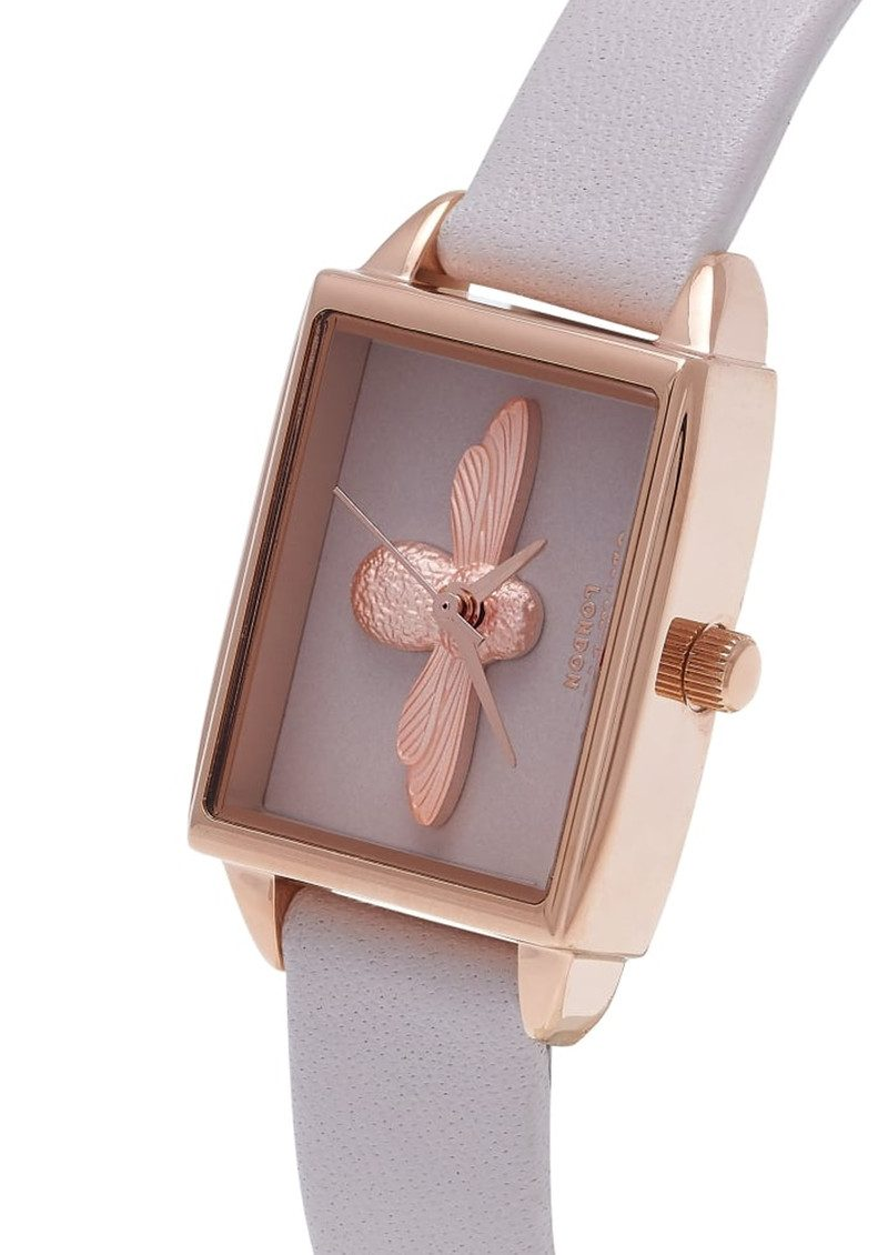 Olivia Burton 3D Blush Dial Watch - Blush & Rose Gold main image