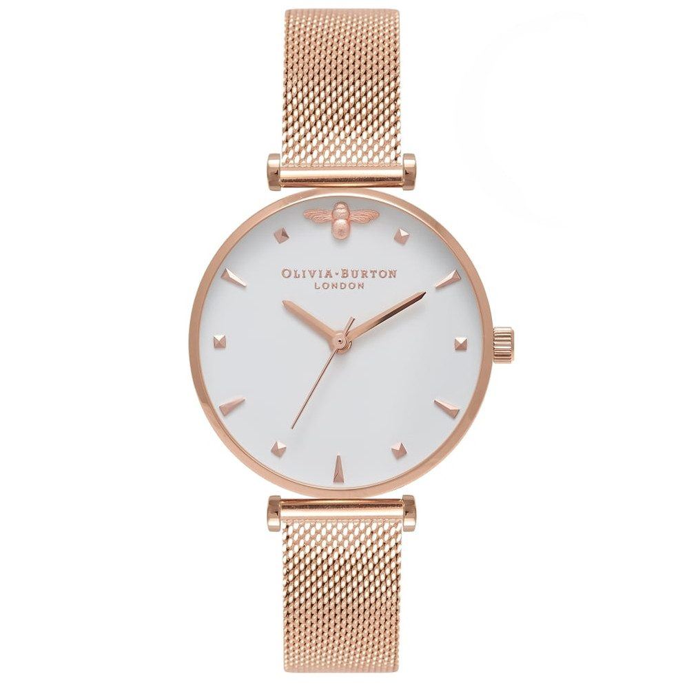 Queen Bee Watch - Rose Gold Mesh