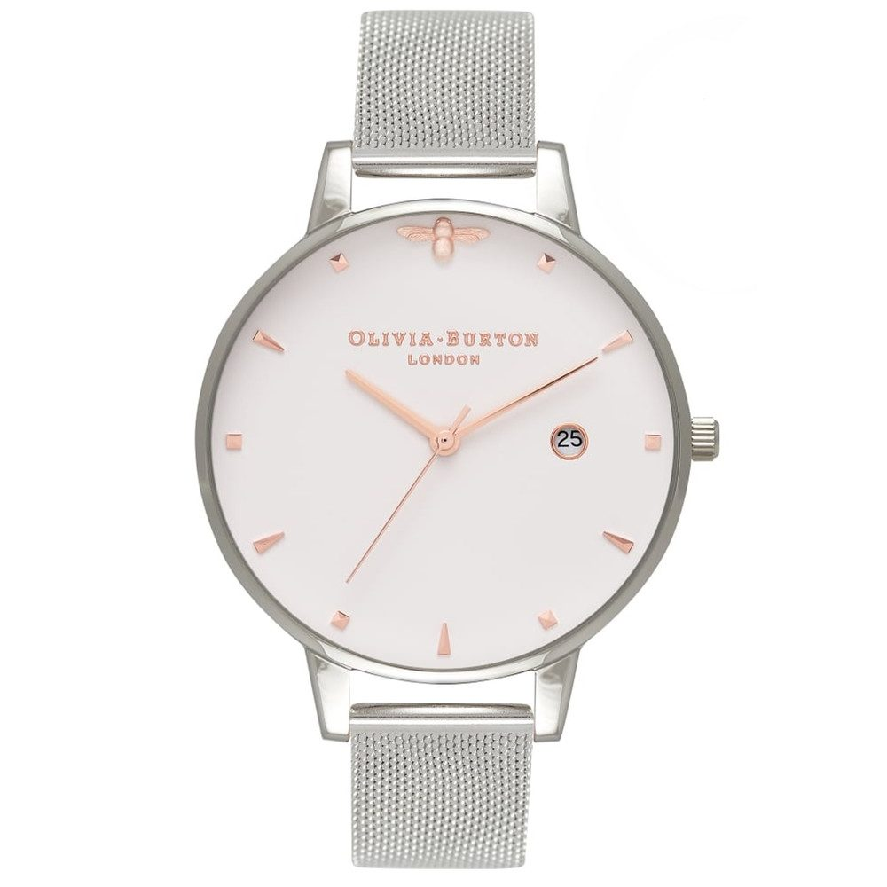 Queen Bee Mesh Watch - Silver & Rose Gold