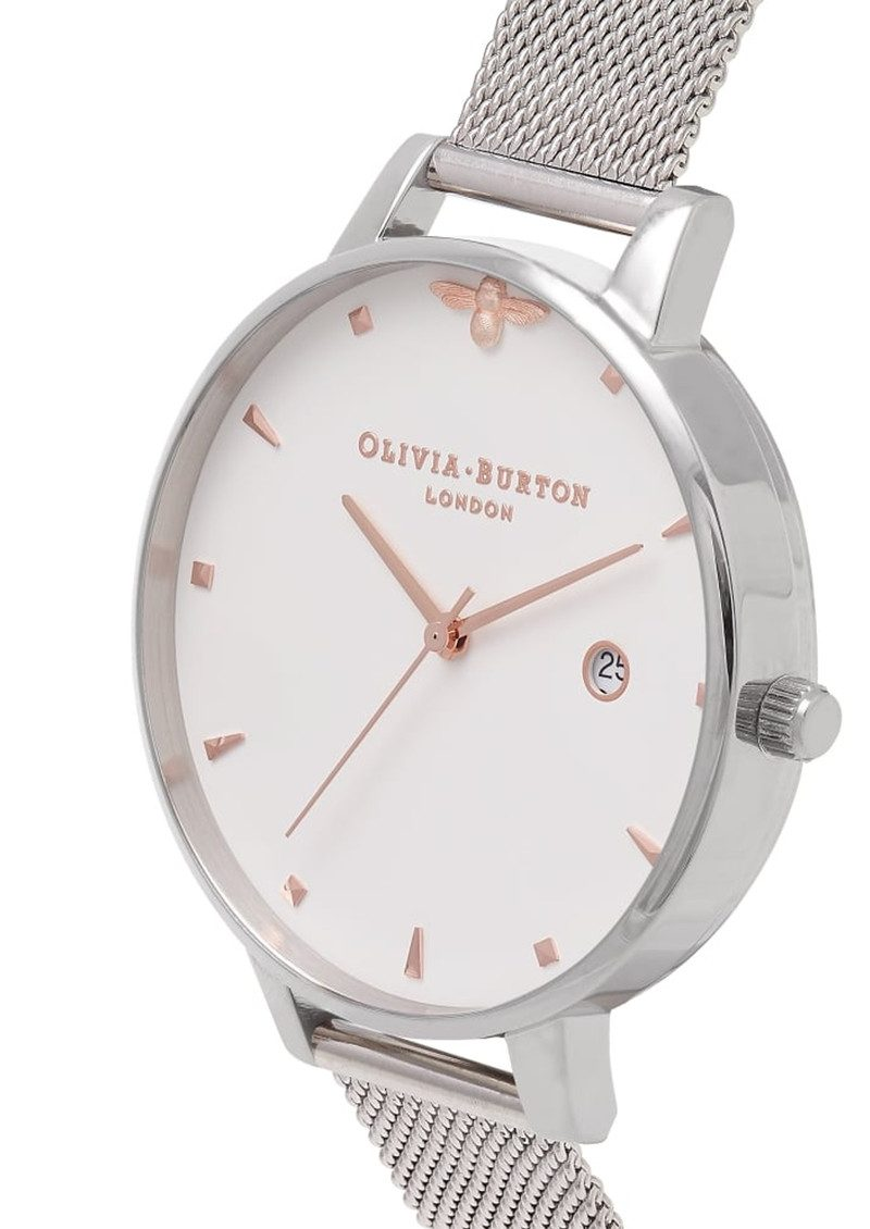 Olivia Burton Queen Bee Mesh Watch - Silver & Rose Gold main image