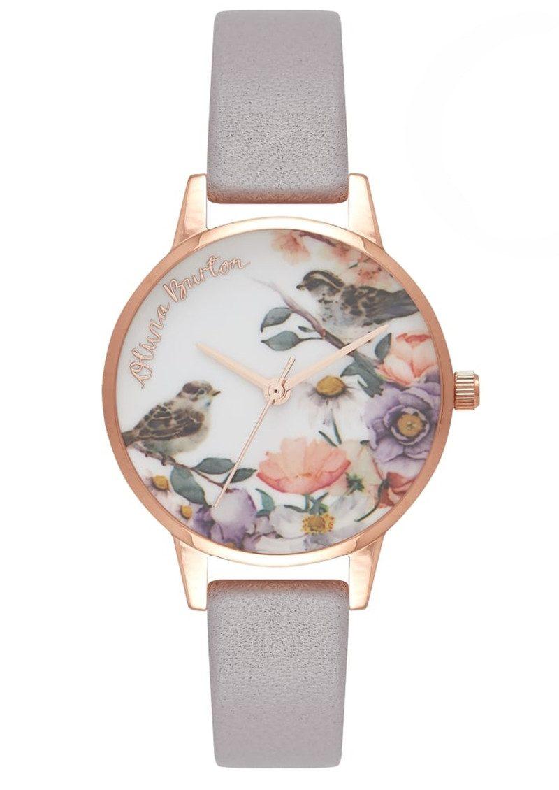 Olivia Burton English Garden Midi Watch - Grey Lilac & Rose Gold main image
