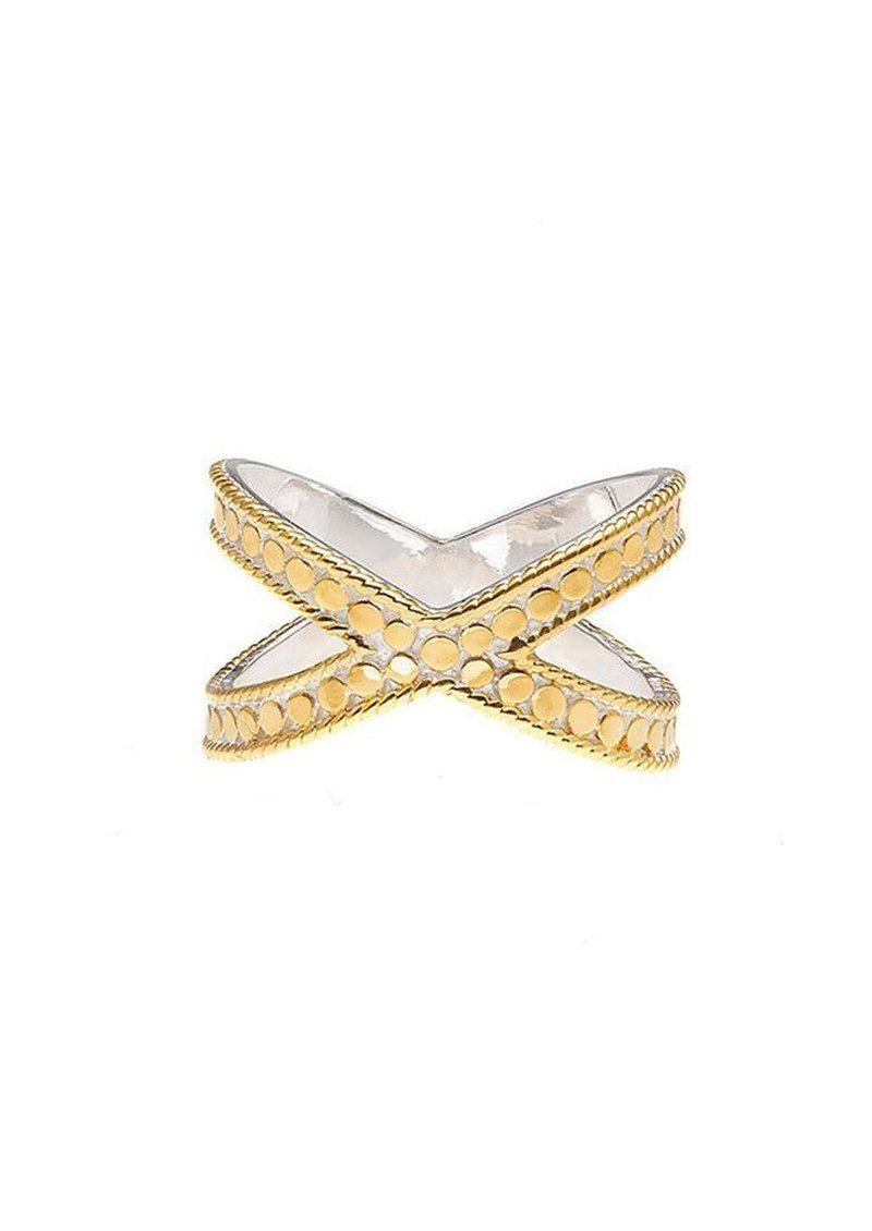 ANNA BECK Cross Ring - Gold main image
