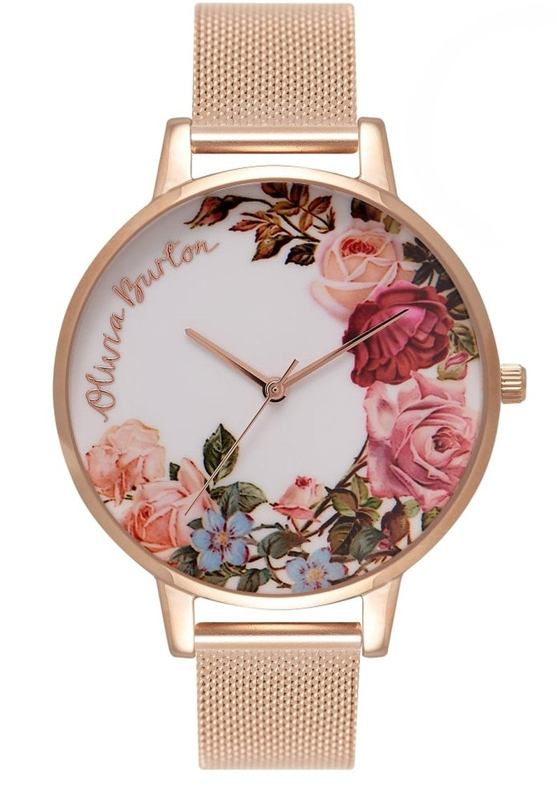 Olivia Burton English Garden Mesh Watch - Rose Gold main image
