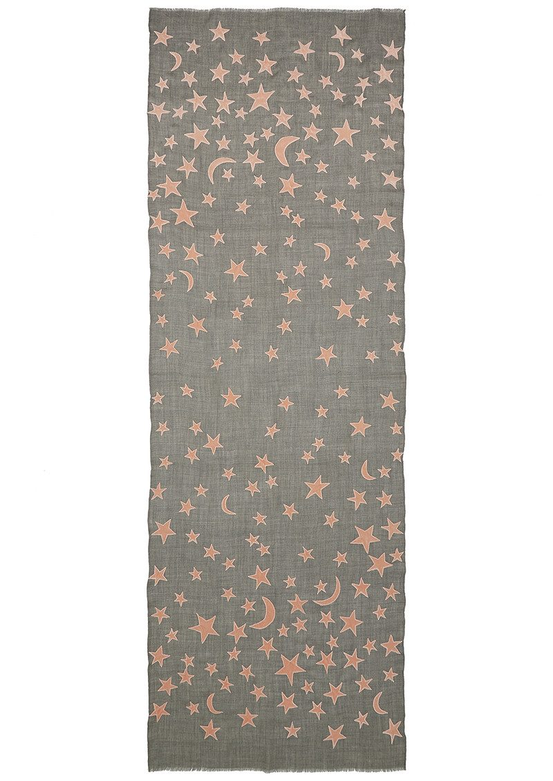 Lily and Lionel Exclusive Bella Wool Blend Scarf - Grey & Nude main image