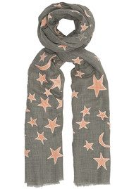 Lily and Lionel Exclusive Bella Wool Blend Scarf - Grey & Nude