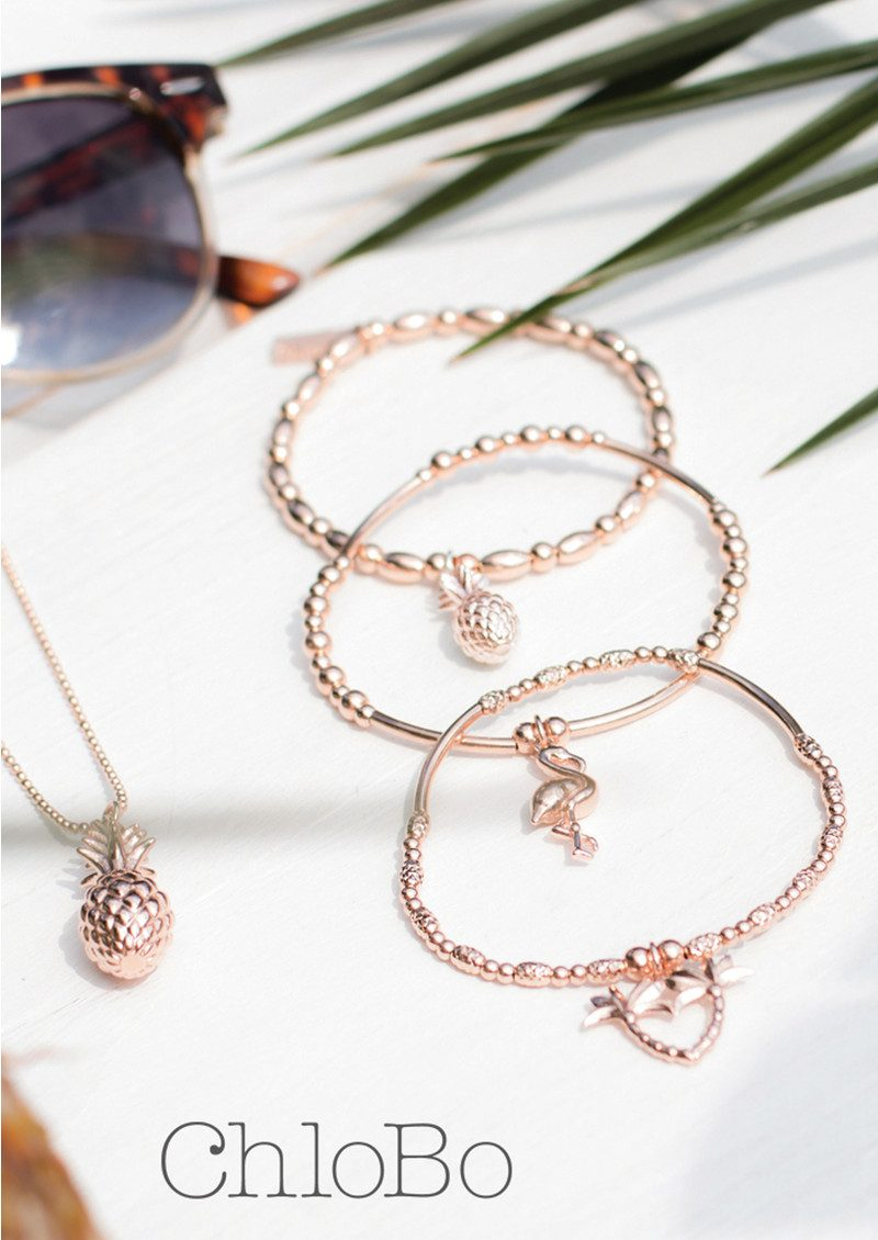 ChloBo Stack of 3 Under the Palms - Rose Gold main image