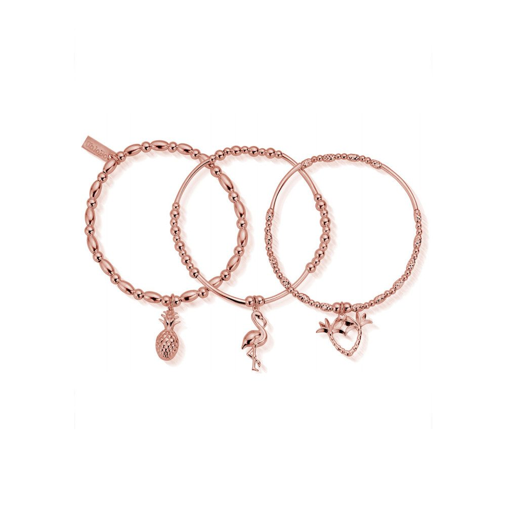 Stack of 3 Under the Palms - Rose Gold