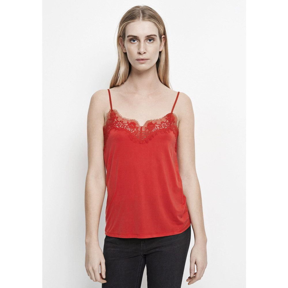 Slip Lace Camisole - Racing Red