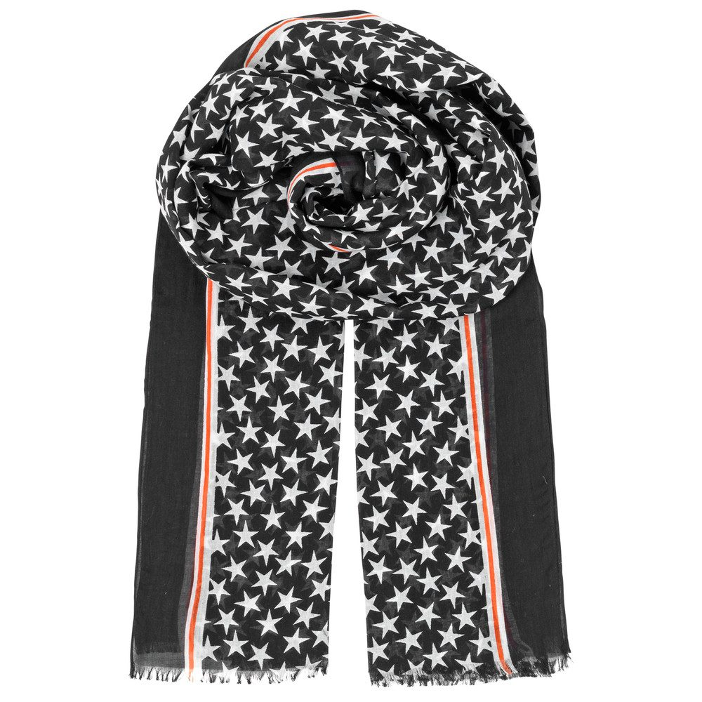 Etoiles Cotton Star Scarf - Black