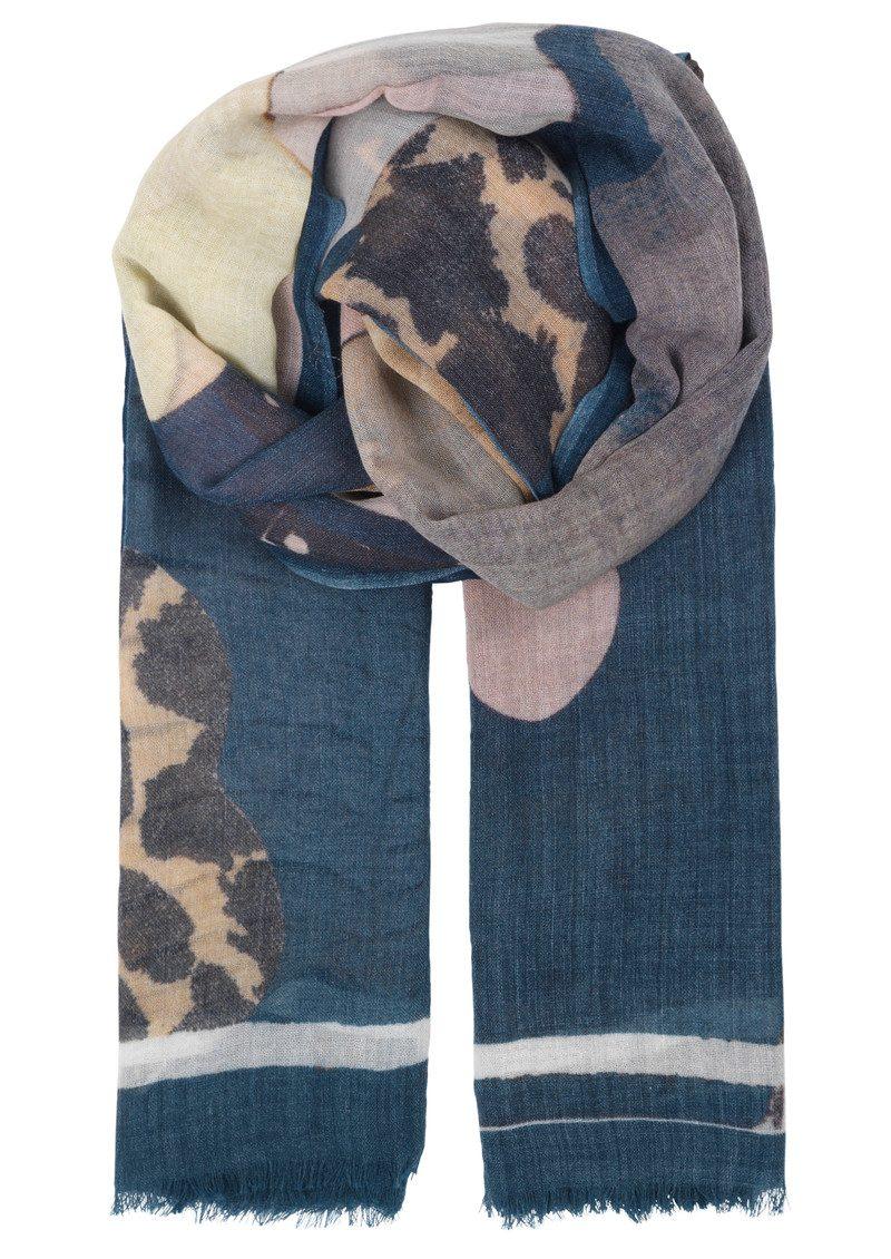 Becksondergaard Hole Wool Scarf - Majolica Blue main image