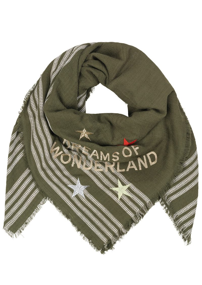 Wonderland Cotton Scarf - Beech main image