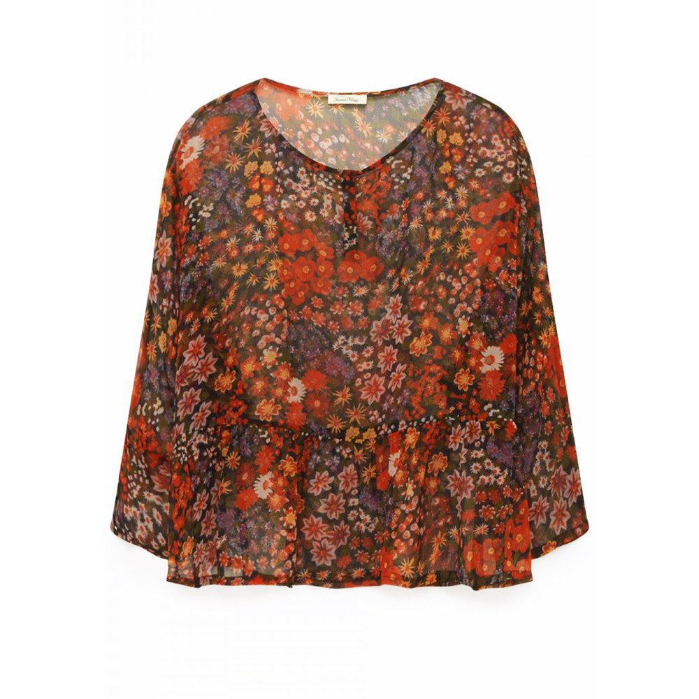 Peonyland Short Sleeve Top - Seventies