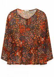 American Vintage Peonyland Short Sleeve Top - Seventies