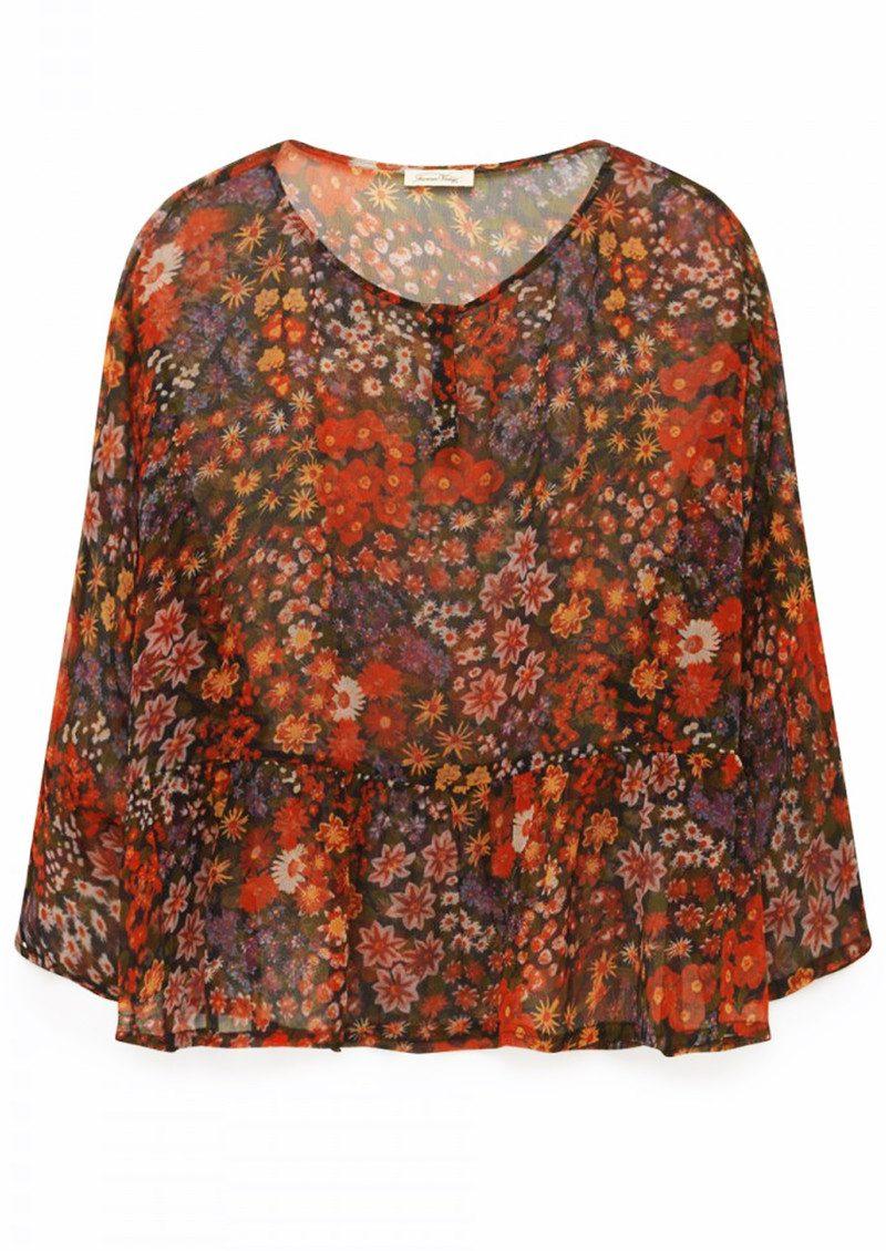 American Vintage Peonyland Short Sleeve Top - Seventies main image