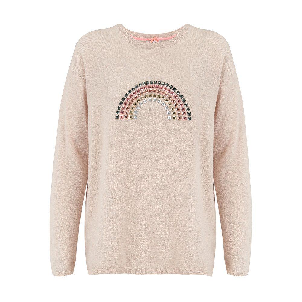 Rainbow Hotfix Cashmere Sweater - Oatmeal