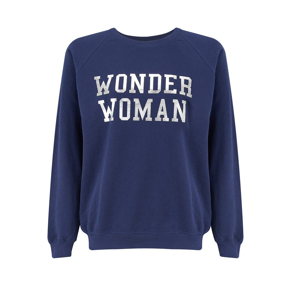 Wonder Woman Sweatshirt - Navy & Silver