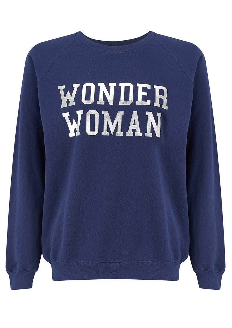 ON THE RISE Wonder Woman Sweatshirt - Navy & Silver main image