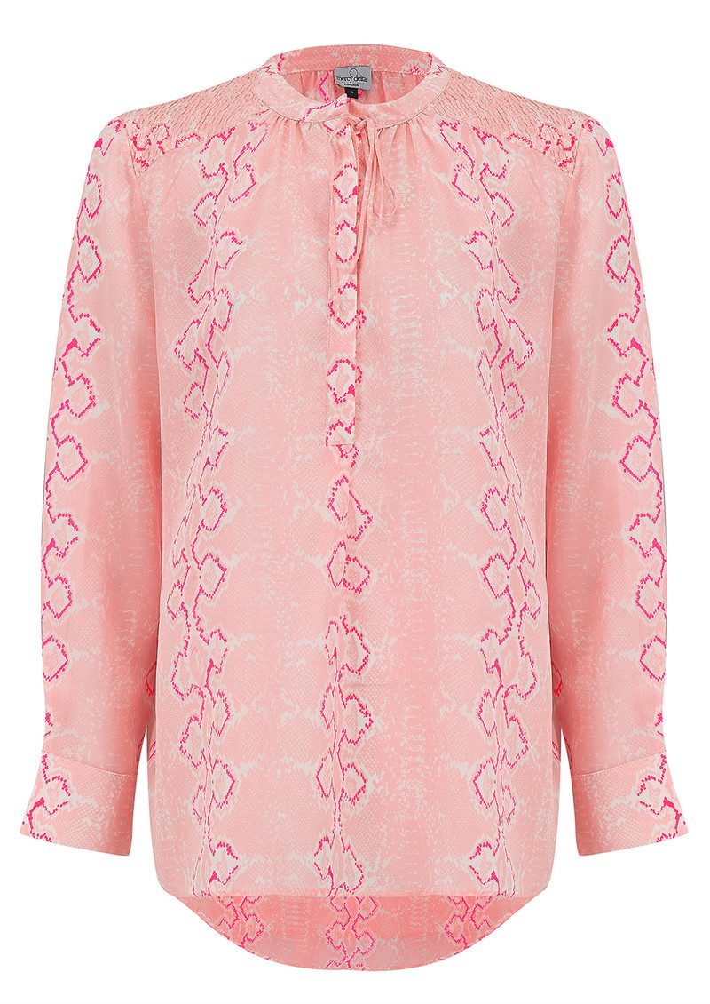 Mercy Delta Stowe Long Sleeve Blouse - Python Blush main image