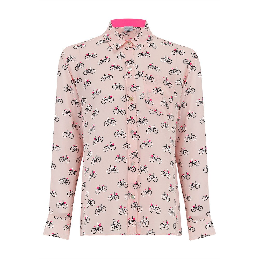 Goodwood Silk Shirt - Cambridge Blush