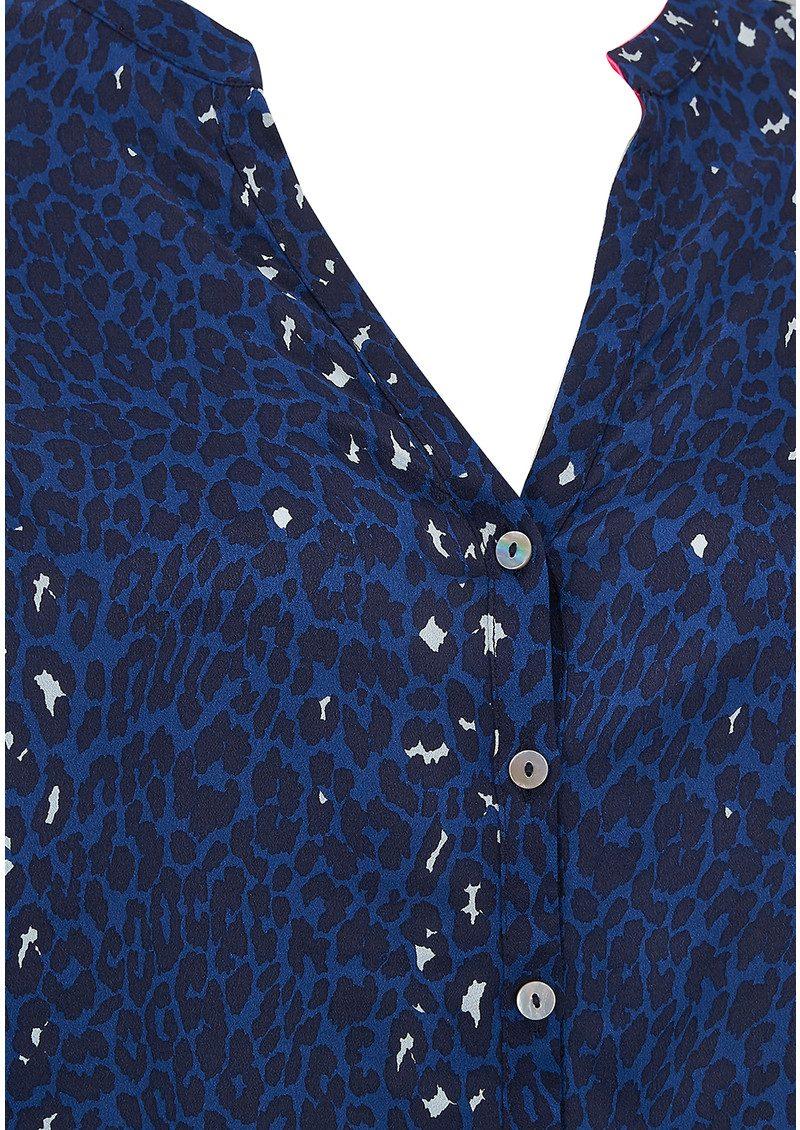 Mercy Delta Hale Long Sleeve Silk Blouse - Safari Midnight main image