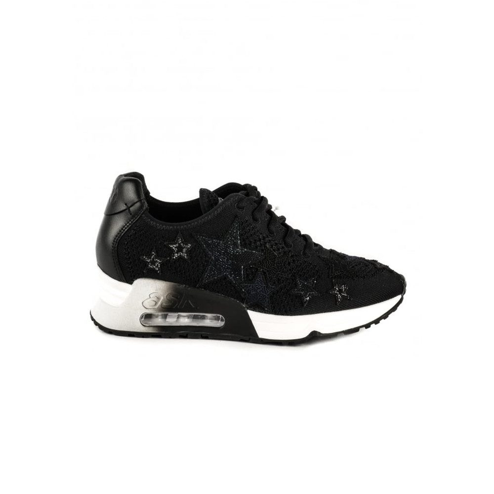 Lucky Star Knit Trainers - Black