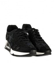 Ash Lucky Star Knit Trainers - Black
