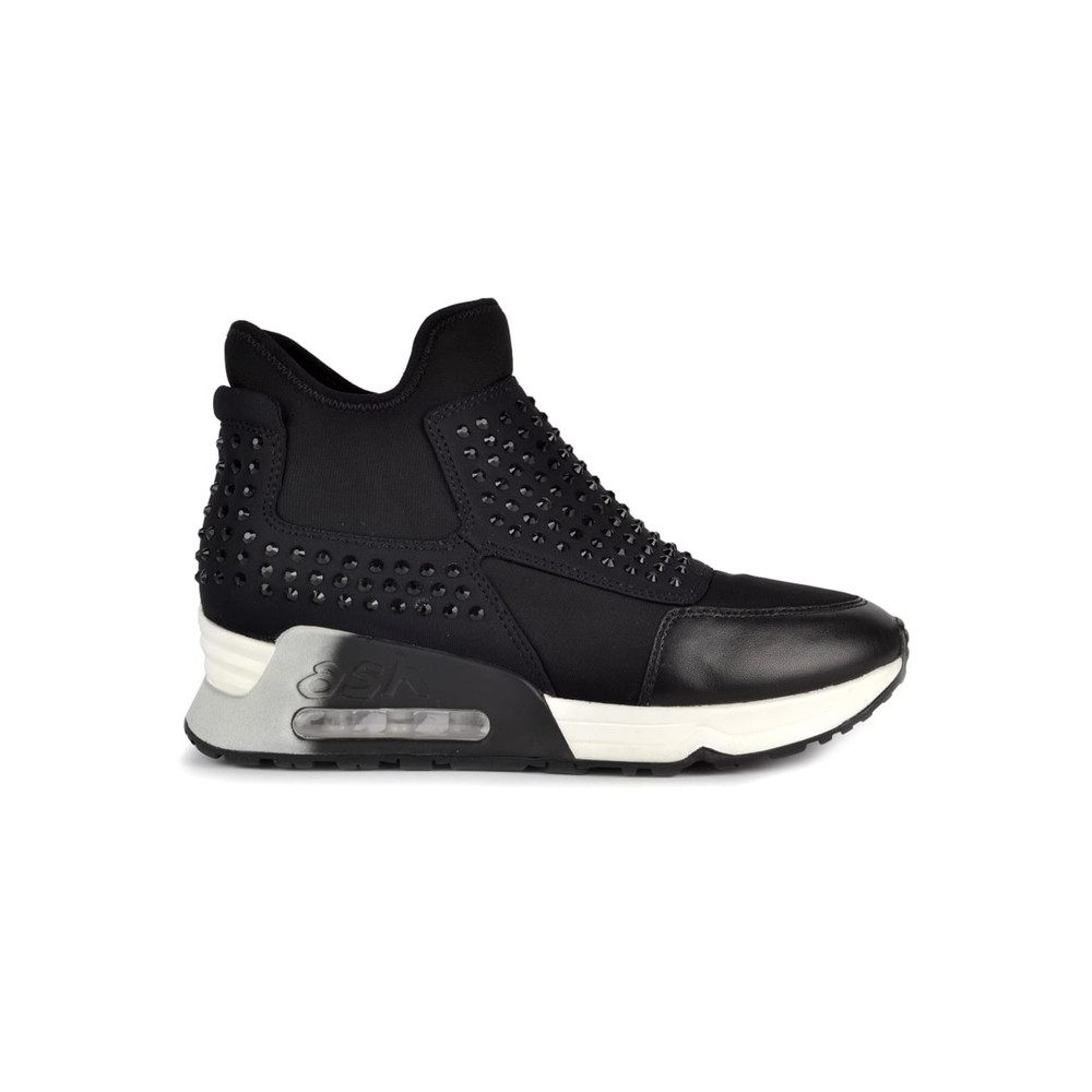 Laser Stone Trainers - Black