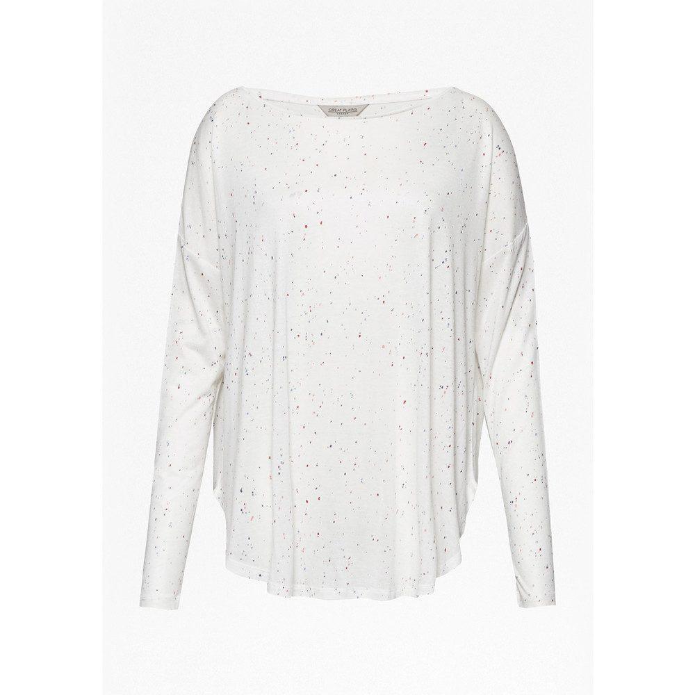 Safiya Speckle Long Sleeve Tee - Aran Cream & Bright Multi