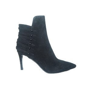 Leah Suede Ankle Boot - Black