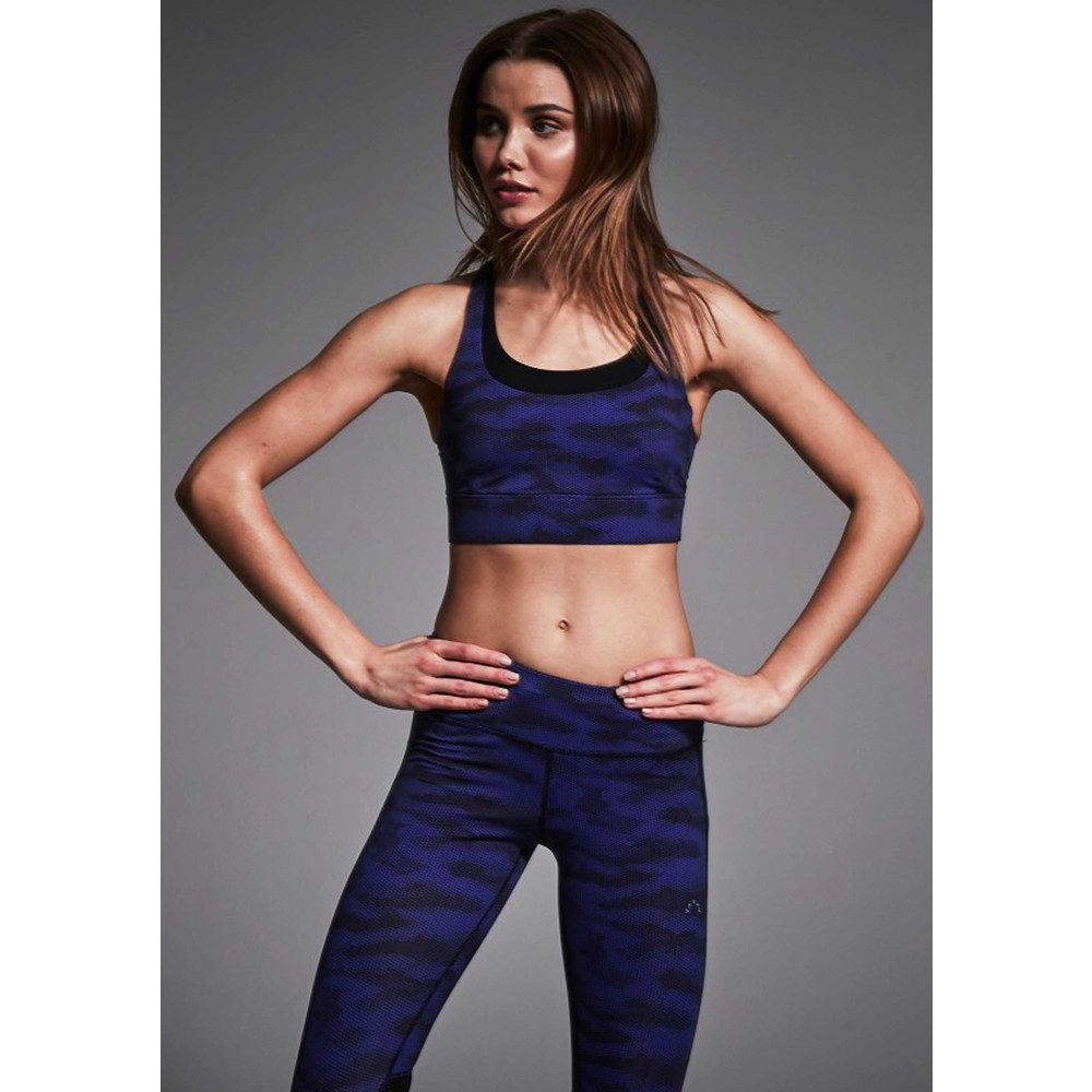 Bolton Sports Bra - Navy Camo