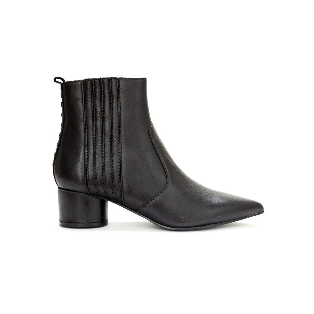 Laila Leather Boots - Black