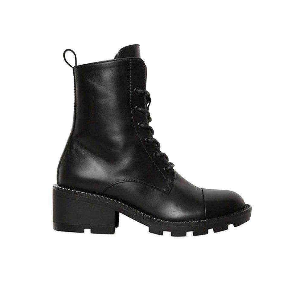 Park Biker Leather Boots - Black