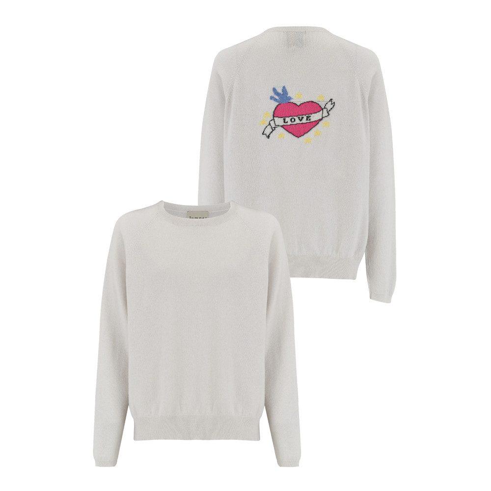 I Love Sweater - Blanche