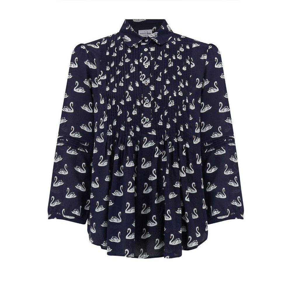 Belmont Blouse - Midnight Swan