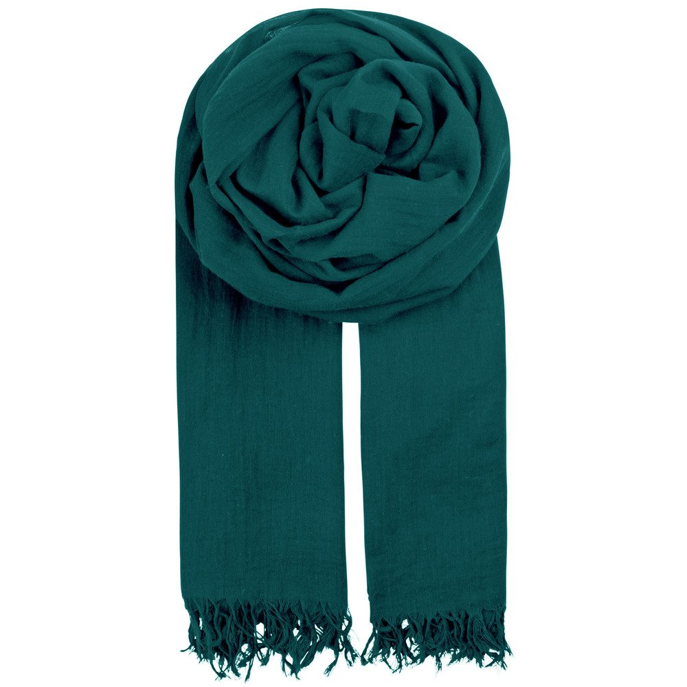 Solid Ilona Cotton Scarf - Majolica Blue