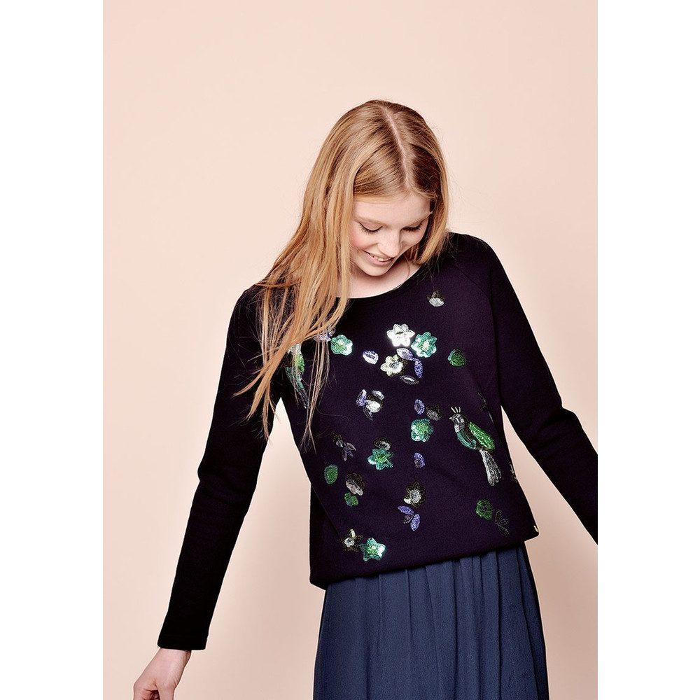 Idana Sequined Sweater - Marine