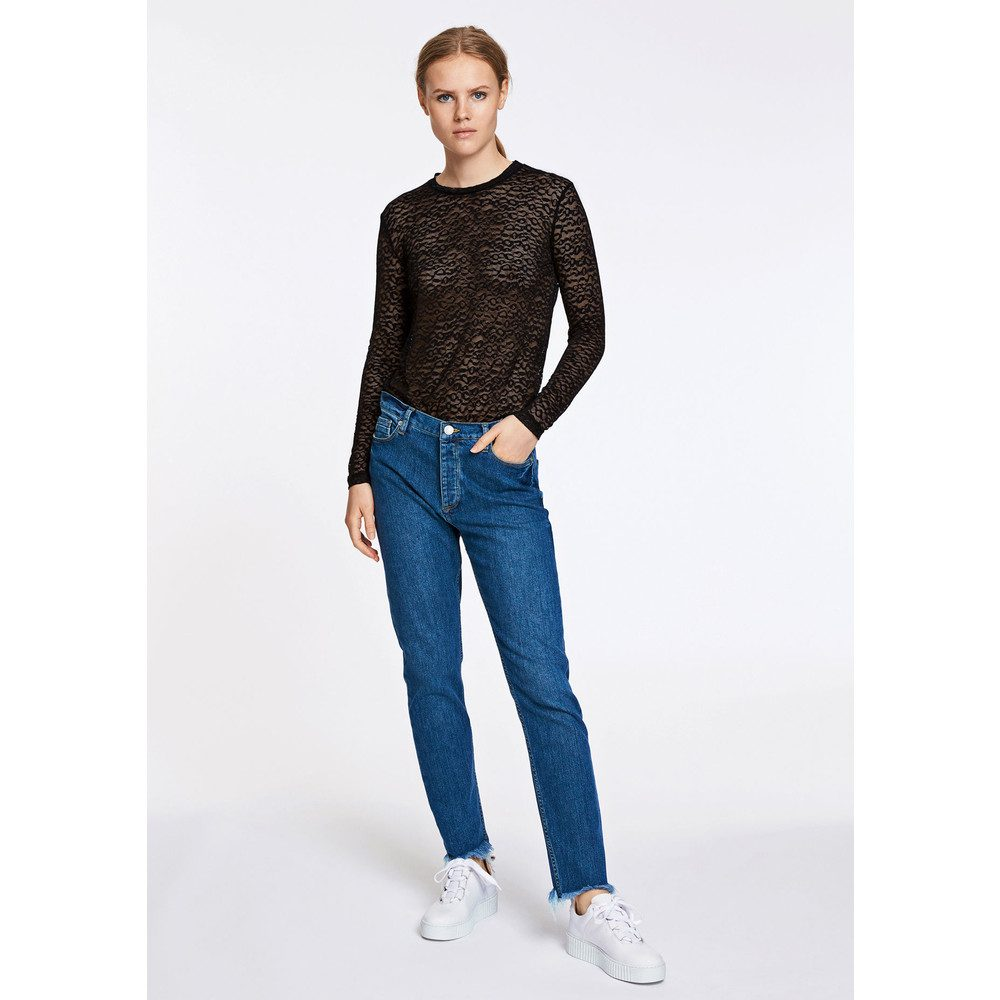 Tracy Long Sleeve Lace Top - Black