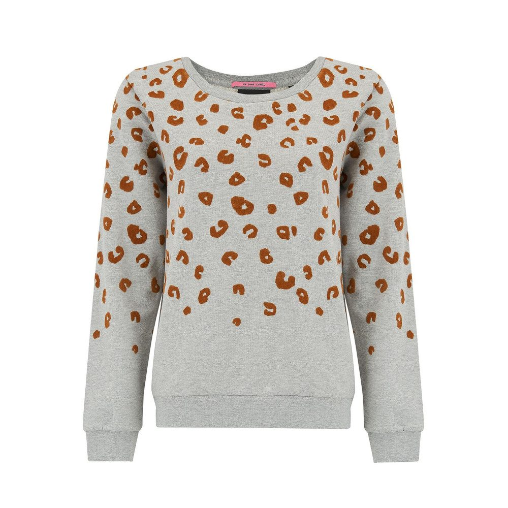 Flock Leopard Sweater - Grey
