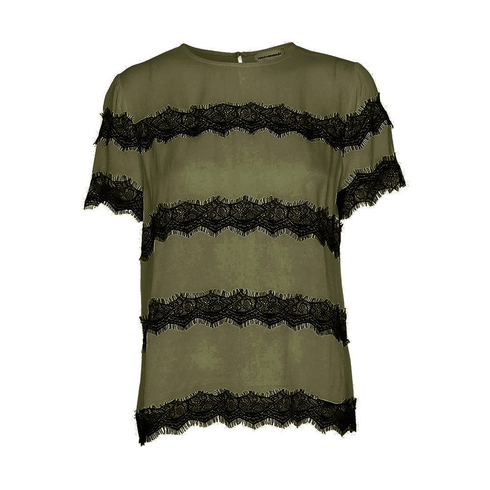 Yan Lace Top - Dark Olive