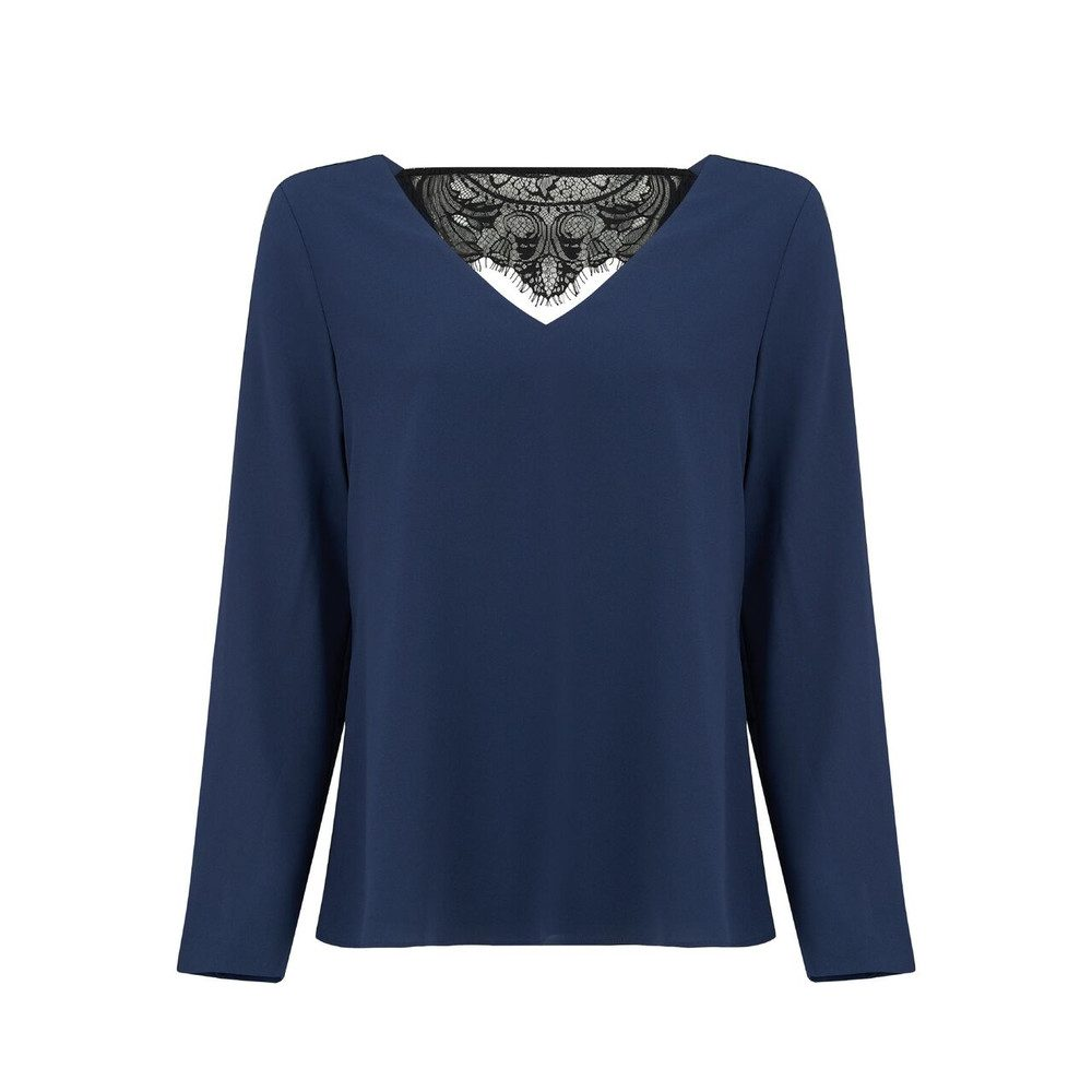 Freja Long Sleeve Top - Navy