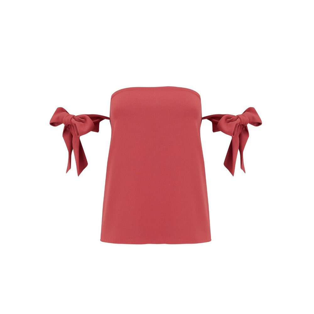 Lova Bow Top - Brick Red