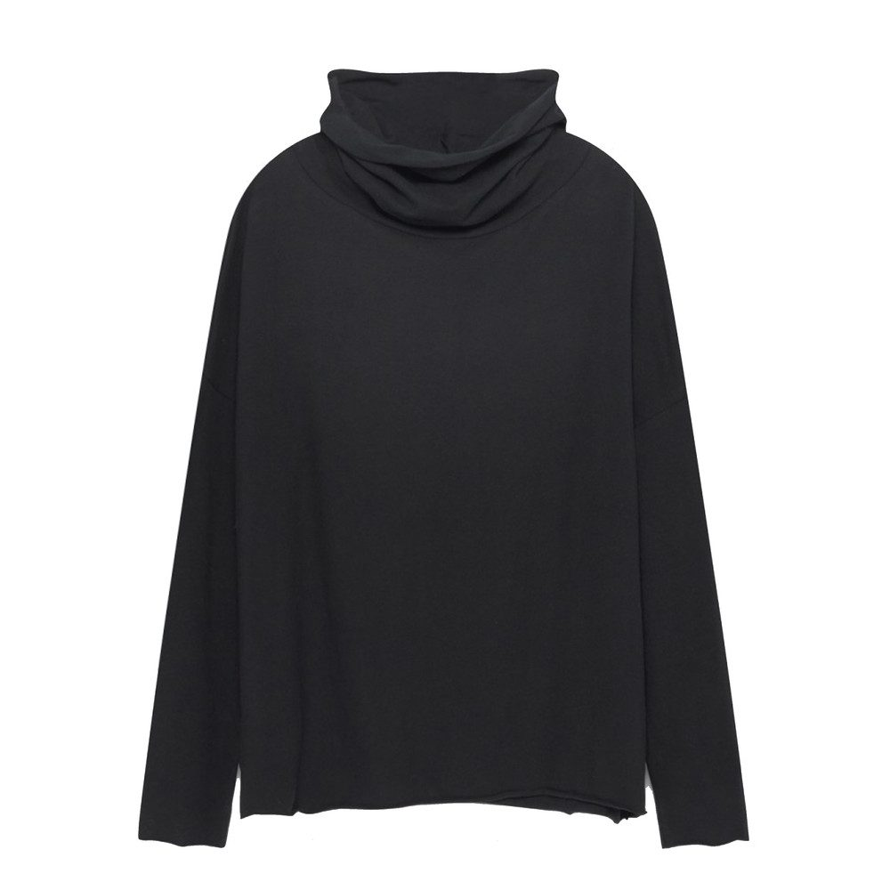 Opyntale Roll Neck Top - Carbon