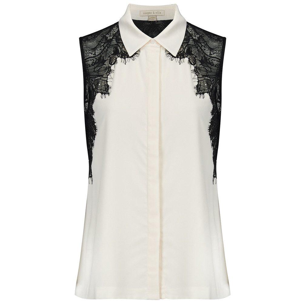Vera Lace Shirt - Ivory