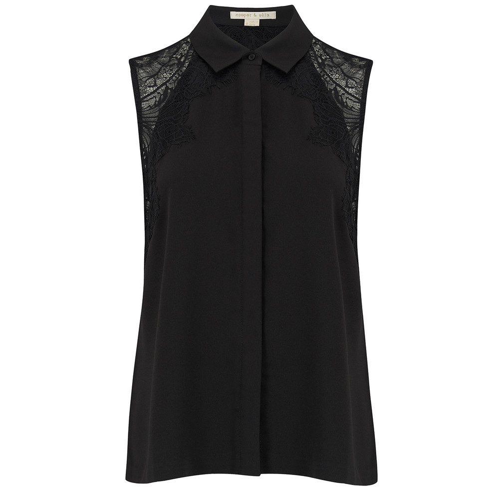 Vera Lace Shirt - Black